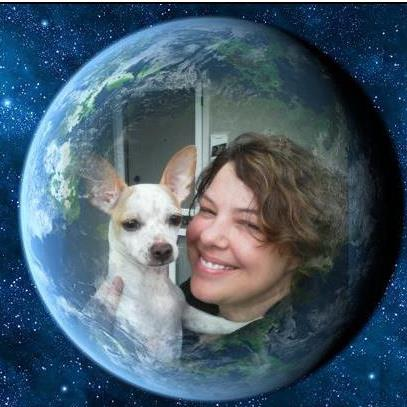 photo of Dawn M. and dog